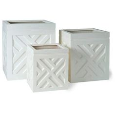 Love these planters but too expensive... DIY with trim (maybe a more simple pattern?)