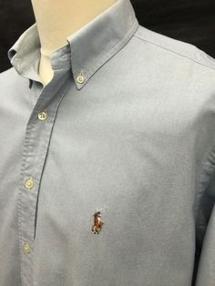 Polo #RalphLauren #Mens #Yarmouth #Shirt XL Regular Fit Plain Blue #Oxford Cotton #menswear #mensfashion #mensstyle