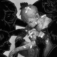 Ashley Mackenzie #illustration #drawing #sad #portrait #boy