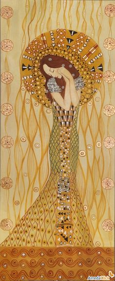 detail from the beethoven frieze by klimt