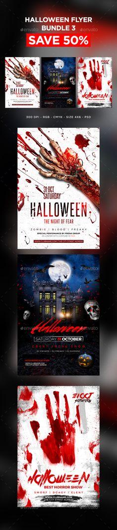 Dark Queen Halloween Flyer u2014 PSD Template #club flyer #party flyer - zombie flyer template