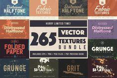 Bundle of 265 High Quality Vector Textures - only $24! - MightyDeals