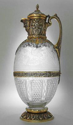 Charles Edwards, London 1894 Silver and Glass Decanter