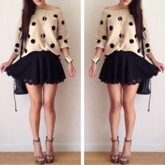 Fall fashion - dots -