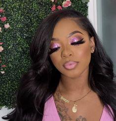 Black Makeup Looks, Glam Makeup Look, Glamour Makeup, Black Girl Makeup, Looks Black, Cute Makeup, Girls Makeup, Pretty Makeup, Pink Eyeshadow Look