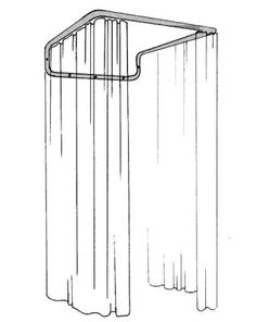 this thrifty curtain rod creates a vanishing fitting room - too cool!