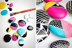 Upcycle rocks into neon magnets for your fridge with this tutorial.