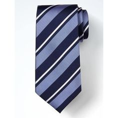 Banana Republic Classic Stripe Silk Nanotex Tie ($42) ❤ liked on Polyvore featuring men's fashion, men's accessories, men's neckwear, ties, navy, mens silk ties, mens ties, mens navy tie and mens striped ties