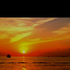 Key West sunset - many a good times raising a toast to the sunsets in Key West...
