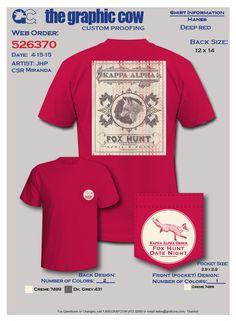 Kappa Alpha Order Fox Hunt design