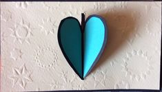 Heart lock accordion card, closed