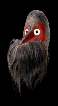 "Africa | ""gägon"" beak mask from the Dan people of Ivory Coast 
