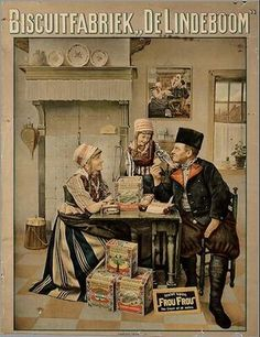old Dutch ad for a biscuit company