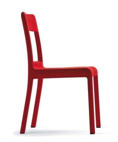 Sedia in polipropilene Pacific (rosso)