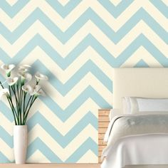 Find it at the Foundary - Dolphin ZigZag Wallpaper Upstairs living room Self Adhesive Wallpaper, Peel And Stick Wallpaper, Wall Wallpaper, Chevron Throw Pillows, Pillow Room, Sofa Design, Zig Zag, Christmas Diy, Sweet Home