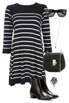 """""""Untitled #3230"""" by meandelstyle ❤ liked on Polyvore featuring Forever 21, Wallis, Yves Saint Laurent, Chloé, Vero Moda and Pamela Love"""