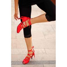 Balerina salsa dance shoes - I have them in Black but these Red ones are a must.