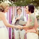 Andrea & Suzy | Heart & Arrow Events | Wedding Streamers | Lesbian Wedding | Backyard Wedding Wedding Streamers, Wedding Backyard, Heart With Arrow, Lesbian Wedding, Suzy, Events, Happenings, Wedding Bunting
