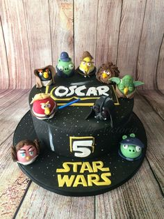 Angry birds Star Wars cake I made..