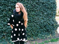 Black & White Pacman Poncho by StellaAndStosh on Etsy
