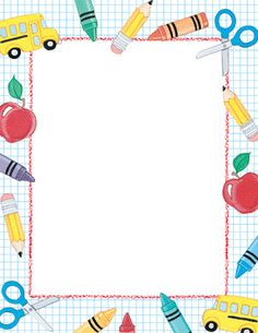 School theme paper from great papers. text x 11 paper with school theme. Borders For Paper, Borders And Frames, Simple Borders, Page Boarders, School Border, Printable Border, Boarder Designs, Border Templates, Design Templates