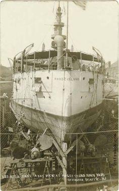 161 - USS Rhode Island in Dry Dock