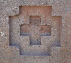 puma punku   The square cross symbol from Puma Punku, Tiwanaku.
