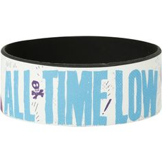 All Time Low Band Image Rubber Bracelet | Hot Topic (£3.58) ❤ liked on Polyvore