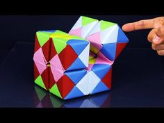 Origami: Action Toy / Spinner - Instructions in English (BR) - YouTube