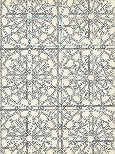 Pattern in Islamic Art Islamic Motifs, Islamic Art Pattern, Arabic Pattern, Pattern Art, Geometric Pattern Design, Geometry Pattern, Pattern Coloring Pages, Mandala Coloring Pages, Geometric Drawing