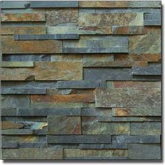 One option for retaining wall, stone look with similar colours as our bricks