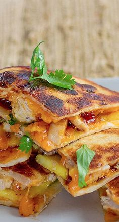 BBQ Chicken and Mango Quesadillas....