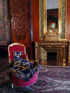 Interior room of the Yusupov Palace in St Petersburg.
