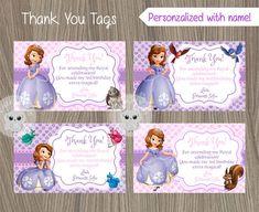 Princess Sofia Thank You Tags, Sofia the first Thank You Tags, Princess Sofia…