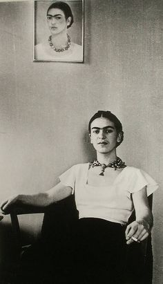 Frida Kahlo, lucienne bloch portrait
