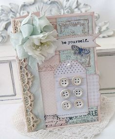 I love putting buttons on greeting cards. This is great!