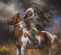 Comanche Thunder Don Oelze kK Native American Tattoos, Native American Music, Native American Paintings, Native American Artists, American Indian Art, American Traditional, Native American History, Indian Paintings, Cool Paintings