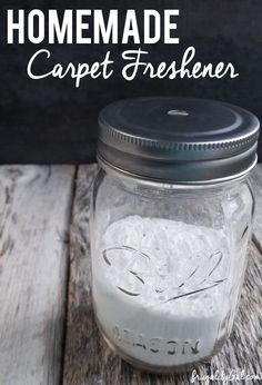 DIY Homemade Carpet Freshener recipe. Make your own natural and frugal carpet freshener for pennies! This smells GREAT, deodorizes and is useful against dust mites and fleas!