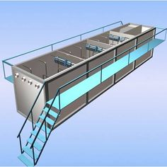 Made using the latest technologies, Cleantech Water presents MBBR sewage treatment plant. The high quality carbon steel, used to make it, ensures its durability.