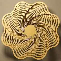 "Spiral 9"" - laser cut wooden bowl"