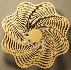 "Spiral 9"" - laser cut wooden bowl"