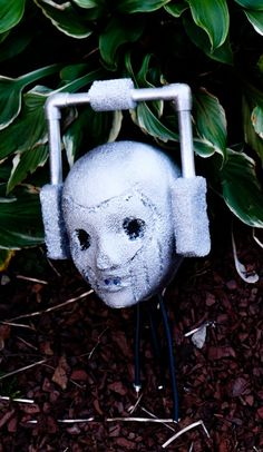 DIY Cyberman Head Halloween prop - for all the Dr. Who fans out there!