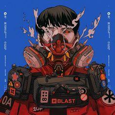 Cyberpunk Kunst, Cyberpunk Anime, Cyberpunk Character, Character Concept, Character Art, Concept Art, Art And Illustration, Urban Samurai, Samurai Artwork