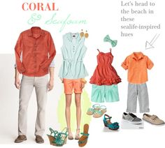 What to Wear - Family Portraits - Beachy and great spring colors created by melodyfields on Polyvore