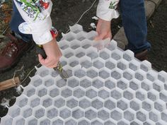 CORE Gravel panels trim easily to whatever shape is required.
