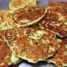 Zucchini Pancakes.. Love this idea for my Shrinking On A Budget Meal Plan.  Great Breakfast!