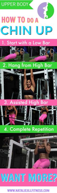 How to do a chin up or pull up using your own bodyweight! Click for video