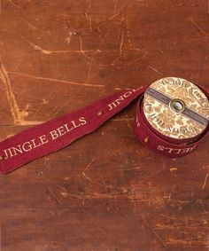Loving this 10' 'Jingle Bells' Red Burlap Ribbon on #zulily! #zulilyfinds