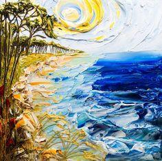 Du relief dans la peinture - Justin Gaffrey - Découverte de l'artiste peintre Justin Gaffrey qui réalise ces superbes toiles en relief en utilisant seulement de la peinture acrylique et des couteaux.-
