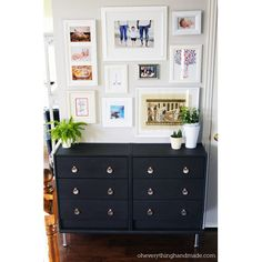 This is a brilliant makeover of IKEA's plain pine Rast chest. I love it.